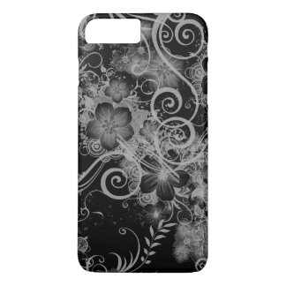 Vintage Floral Pattern Black and White iPhone 7 Plus Case
