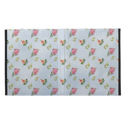 Vintage Floral Pattern - Blue Clouds iPad Folio Covers