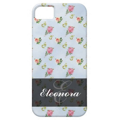 Vintage Floral Pattern - Blue Clouds iPhone 5 Covers