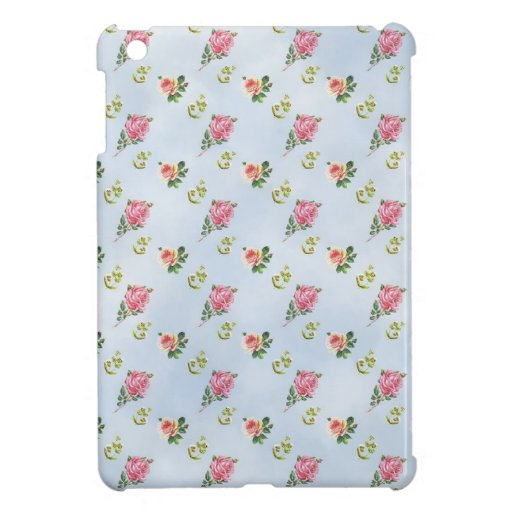 Vintage Floral Pattern - Blue Clouds iPad Mini Cover