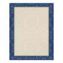 Vintage Floral Pattern - Blue on Blue Flyer