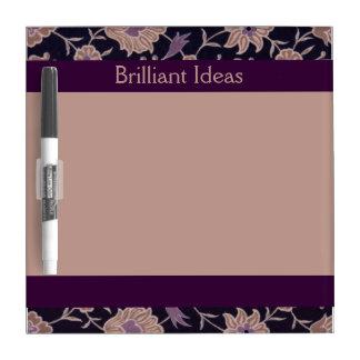 Vintage Floral Pattern - Brilliant Ideas! Dry-Erase Board