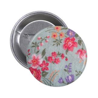 Vintage Floral Pattern Button Flair