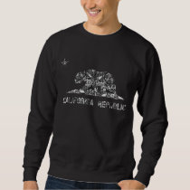 Vintage Floral Pattern California Flag Sweatshirt