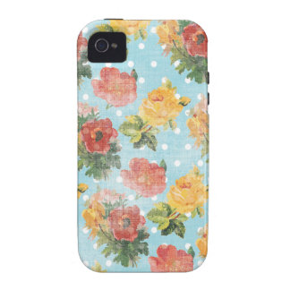 Vintage Floral Pattern Vibe iPhone 4 Cases