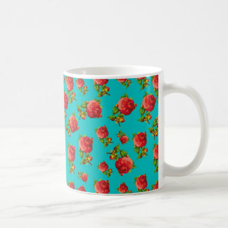 Vintage Floral Pattern Coffee Mug