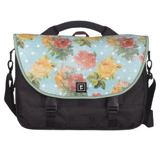 Vintage Floral Pattern Commuter Bag