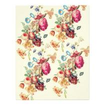 Vintage Floral Pattern DIY Envelopes Liner Flyer