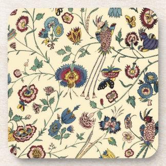vintage floral pattern drink coaster