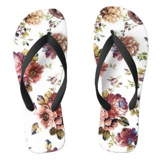 Vintage Floral Pattern Flip Flop