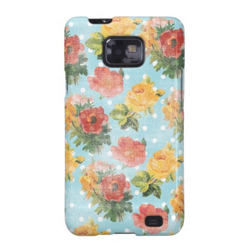 Vintage Floral Pattern Galaxy S2 Case