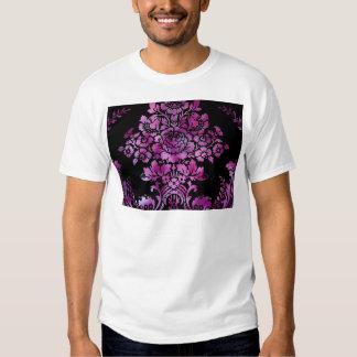 Vintage Floral Pattern Gift Black Pink Shirt