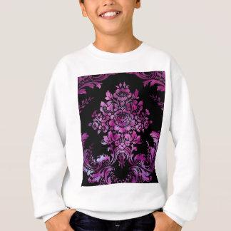 Vintage Floral Pattern Gift Black Pink Sweatshirt