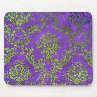 Vintage Floral Pattern Gift Purple Green Mouse Pad
