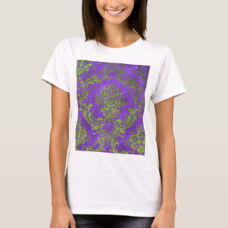 Vintage Floral Pattern Gift Purple Green T-Shirt