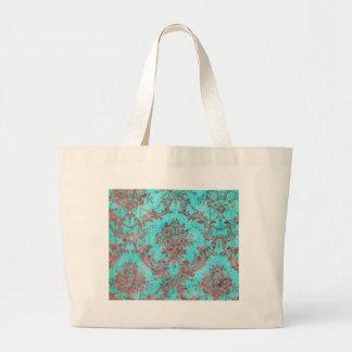 Vintage Floral Pattern Gift Red Blue 2 Bags