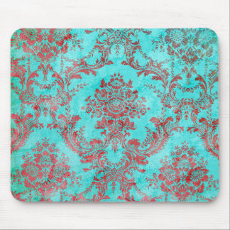 Vintage Floral Pattern Gift Red Blue 2 Mouse Pads