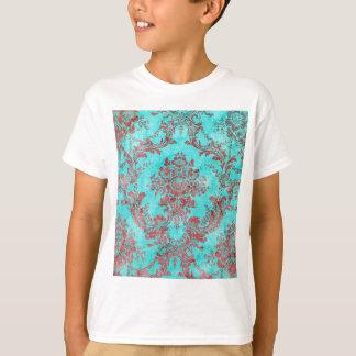Vintage Floral Pattern Gift Red Blue 2 T-Shirt