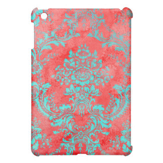 Vintage Floral Pattern Gift Red Blue Case For The iPad Mini