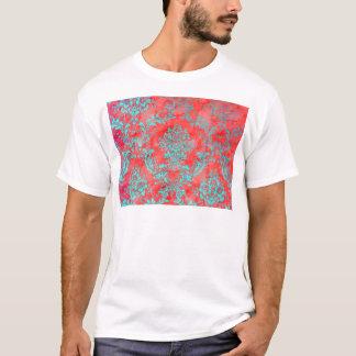 Vintage Floral Pattern Gift Red Blue T-Shirt