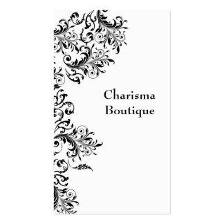 Vintage Floral Pattern in B/W Business Card