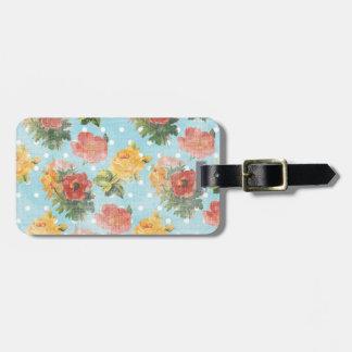 Vintage Floral Pattern Luggage Tags
