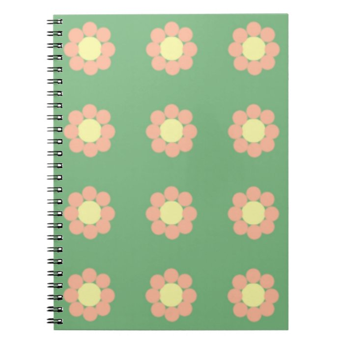 Vintage Floral Pattern Notebook