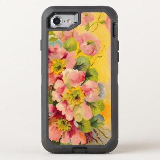 Vintage Floral Pattern OtterBox Defender iPhone 7 Case