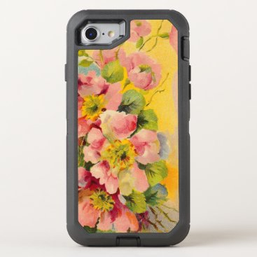 birthday Vintage Floral Pattern OtterBox Defender iPhone 7 Case