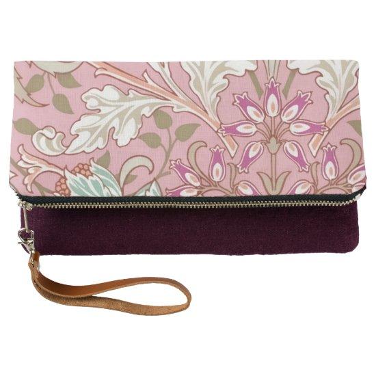Vintage Floral Pattern Pink Tones Clutch
