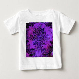 Vintage Floral Pattern Purple PInk Blue Baby T-Shirt