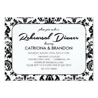"Vintage Floral Pattern Rehearsal Dinner Invitation 5"" X 7"" Invitation Card"
