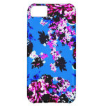 Vintage Floral Pattern Royal Blue and Pink iPhone 5C Cover