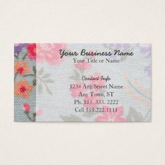 Vintage Floral Pattern Standard Business Cards