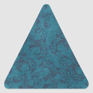 vintage floral pattern triangle sticker
