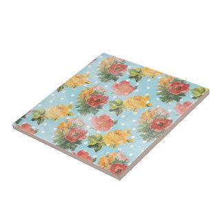Vintage Floral Pattern Tiles