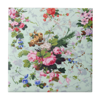 Vintage Floral Pattern Tile