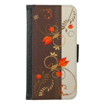 Vintage Floral Pattern Wallet Phone Case For Samsung Galaxy S6