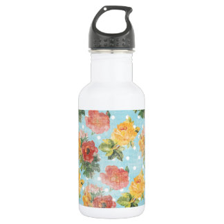 Vintage Floral Pattern Water Bottle