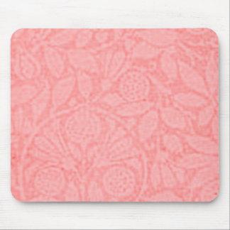 Vintage Floral Peach Mouse Pad