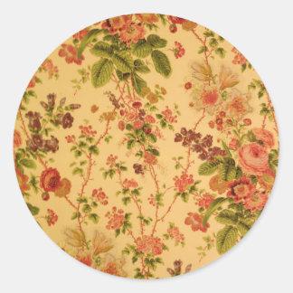 Vintage floral pegatina