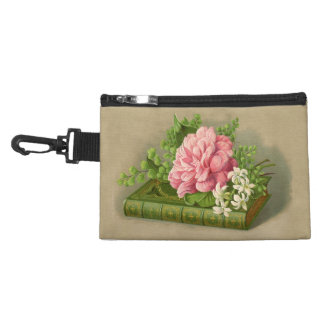 Vintage Floral Peony Classy Book Elegant Accessories Bag