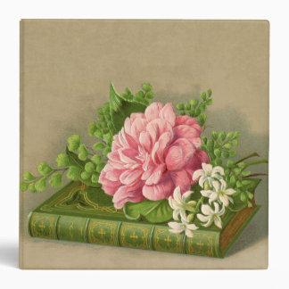 Vintage Floral Peony Classy Book Elegant Binder