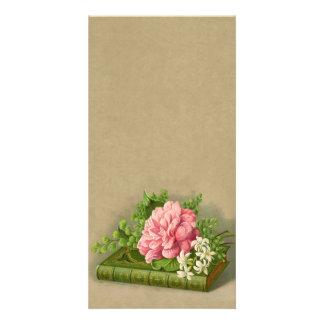 Vintage Floral Peony Classy Book Elegant Card
