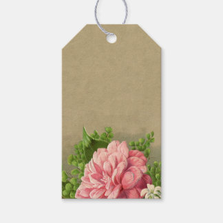 Vintage Floral Peony Classy Book Elegant Gift Tags