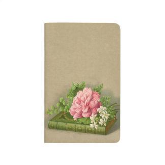 Vintage Floral Peony Classy Book Elegant Journal