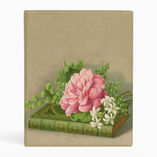 Vintage Floral Peony Classy Book Elegant Mini Binder