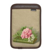 Vintage Floral Peony Classy Book Elegant Sleeve For iPad Mini