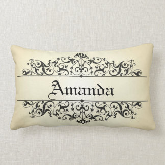 Vintage Floral Personalized Lumbar Pillow