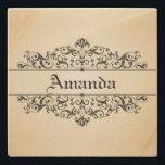 "Vintage Floral Personalized Stone Coaster<br><div class=""desc"">Personalize this product with your name !</div>"
